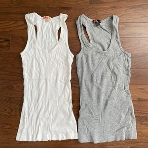 Forever 21 Tank Tops - White and Gray
